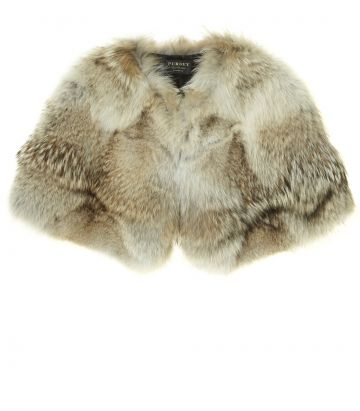 Ladies Fur Shoulder Cape - Coyote