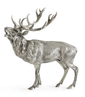 Silver Roaring Stag
