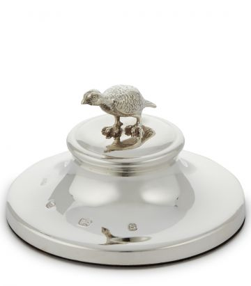 SILVER GROUSE PAPERWEIGHT