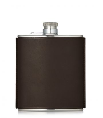6oz Leather Flask - Brown