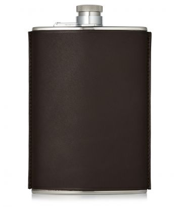 8oz Leather Flask - Brown
