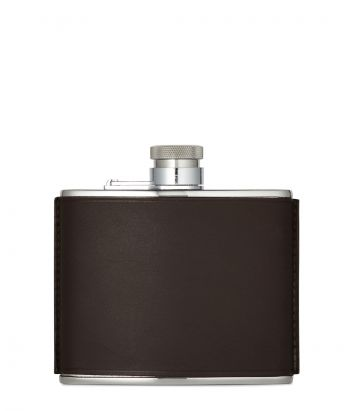 4oz Leather Flask - Brown