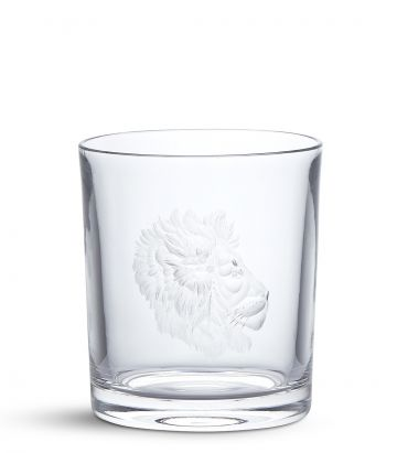 Big Five Crystal Tumbler - Lion