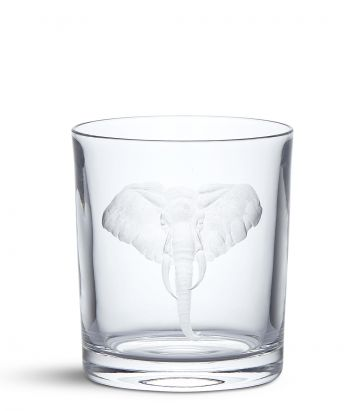 Big Five Crystal Tumbler - Elephant