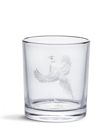 CRYSTAL TUMBLER - FLYING PHEASANT
