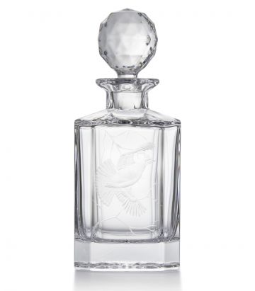 Ruffed Grouse Crystal Decanter
