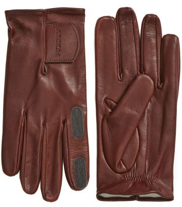 Mens Calf Leather Shooting Glove - Velcro Cuff