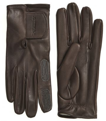 Ladies Cape Leather Shooting Glove - Velcro Cuff - Brown
