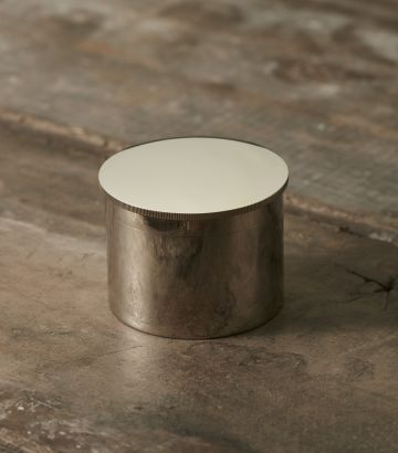 Nickel Plated Grease Pot