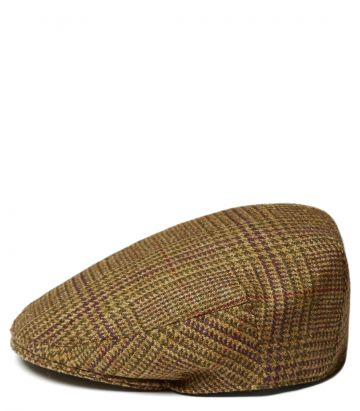 Short Peak Waterproof Tweed Cap - Lawrence