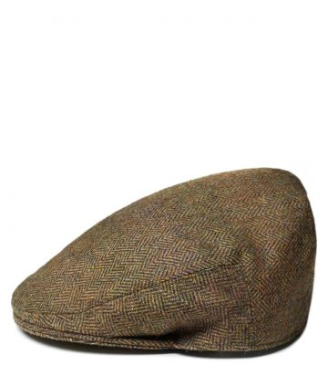 Litton Short Peak Tweed Cap - Beatrice