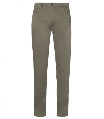Mens Cotton Jeans - Olive