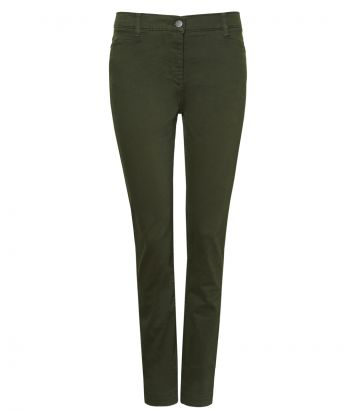 Ladies Cotton Jeans - Winter Moss