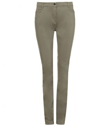 Ladies Cotton Jeans - Olive