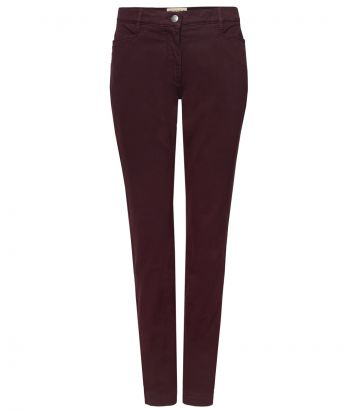Ladies Cotton Jeans - Bordeaux