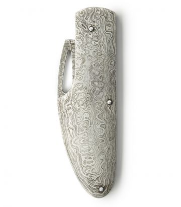 Damascus Steel Sidelock Folding Knife