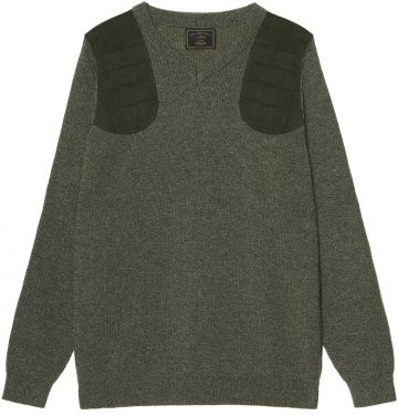 Mens V Neck Shooting Sweater