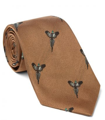 Flying Pheasants Silk Tie
