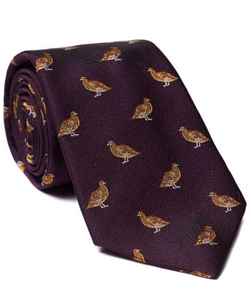 STANDING GROUSE TIE - wine