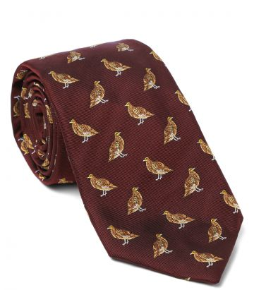 STANDING GROUSE TIE - red