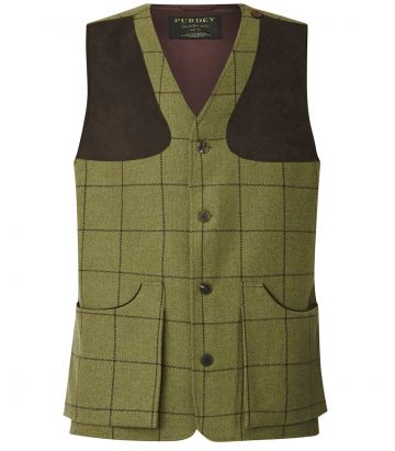 Mens Tweed Shooting Vest - Howesyke