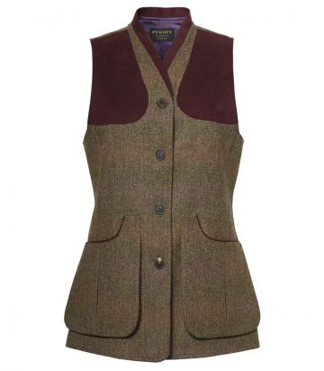 LADIES TWEED SHOOTING VEST - BEATRICE