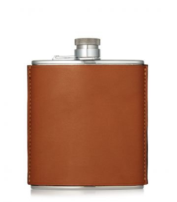 6oz Leather Flask - Tan