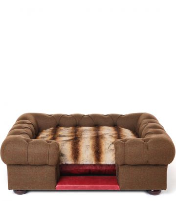 Dog Sofa with Throw - Large