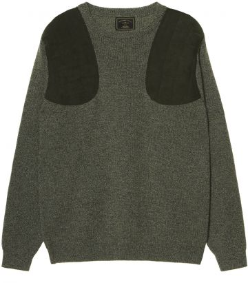 Mens Crew Neck Shooting Sweater