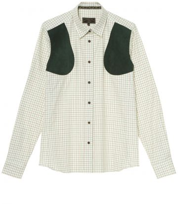 LADIES ALCANTARA PATCH TATTERSALL SHIRT