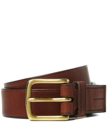 Mens Oak Bark Tanned Leather Belt