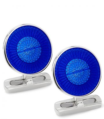 Enamel Screw Cufflinks - Royal Blue
