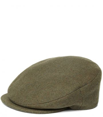 Hemsley Long Peak Tweed Cap - Manton
