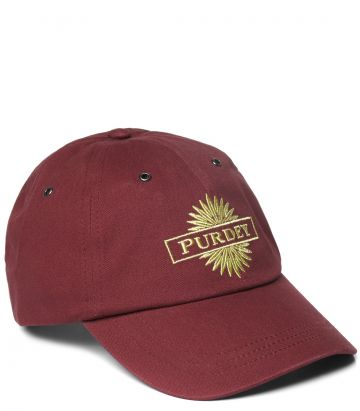 Purdey Baseball Cap - Audley Red - Side View