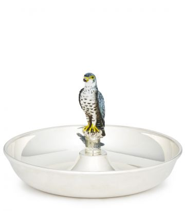 Silver Ashtray with Peregrine