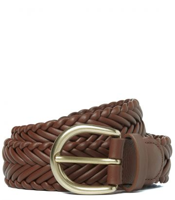 Ladies Plaited Leather Belt