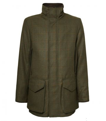 Mens Technical Tweed Field Coat