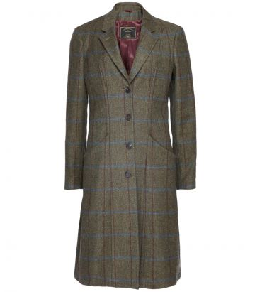 Ladies Tweed Knee Length Coat
