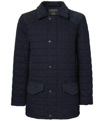 Mens Felgate Quilt Jacket - Navy
