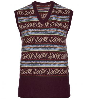 Ladies Knitted Fairisle Vest