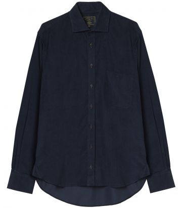Mens Needlecord Shirt - Navy