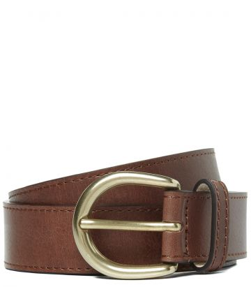 Ladies Grain Leather Belt