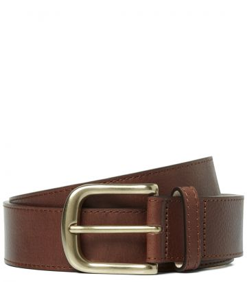 Mens Grain Leather Belt