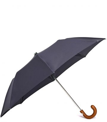 Audley Mini Umbrella - Tan Handle
