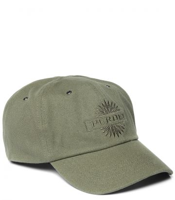Purdey Baseball Cap - Khaki Green - Side View