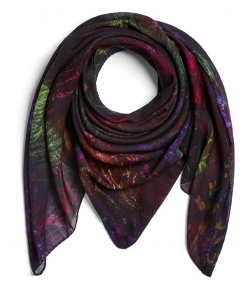 Moorland Floral Scarf - Heather