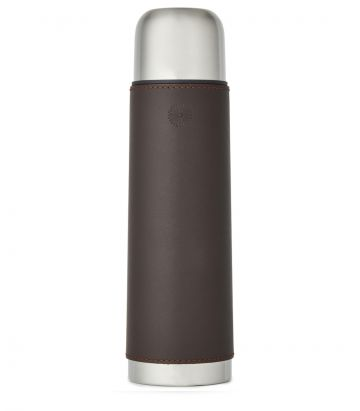 Leather Thermos Flask - Brown