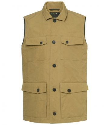 Mens Percival Safari Vest - Bronze - Front view