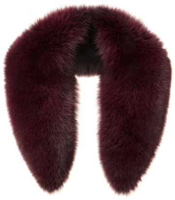 Fox fur scarf - Plum