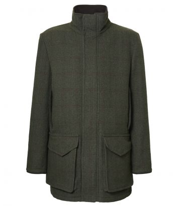 Mens Cashmere Tweed Field Coat